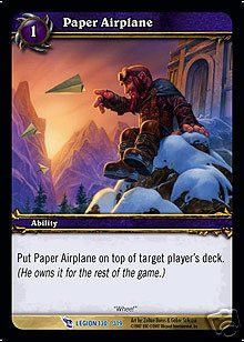 World of Warcraft WoW TCG March of the Legion Paper Airplane Loot Card Rare