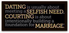 Dating vs courting in Australia