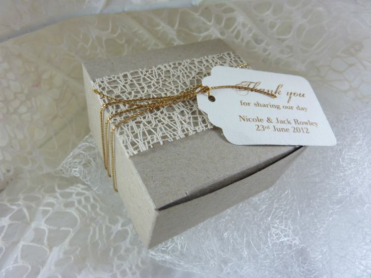 Card gold ribbon box