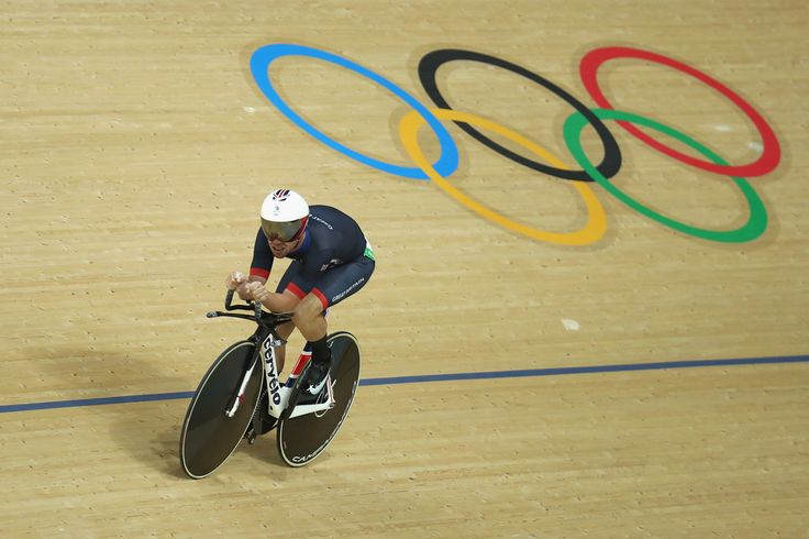 Mark Cavendish of Great Britain competes in the Cycling Track Men's Omnium Time…