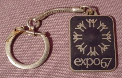 Key Chain Keychain, Expo '67 1967, Montreal Quebec Canada, Metal, Travel Tourism