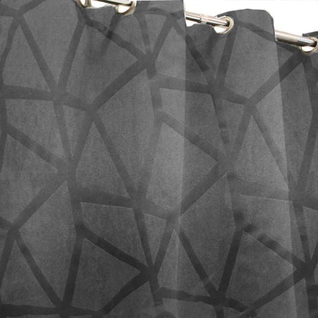 Castorama - Rideau occultant - Taglioni Anthracite 140 x 250 cm