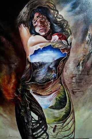 Acrylic on canvas(jakarta)