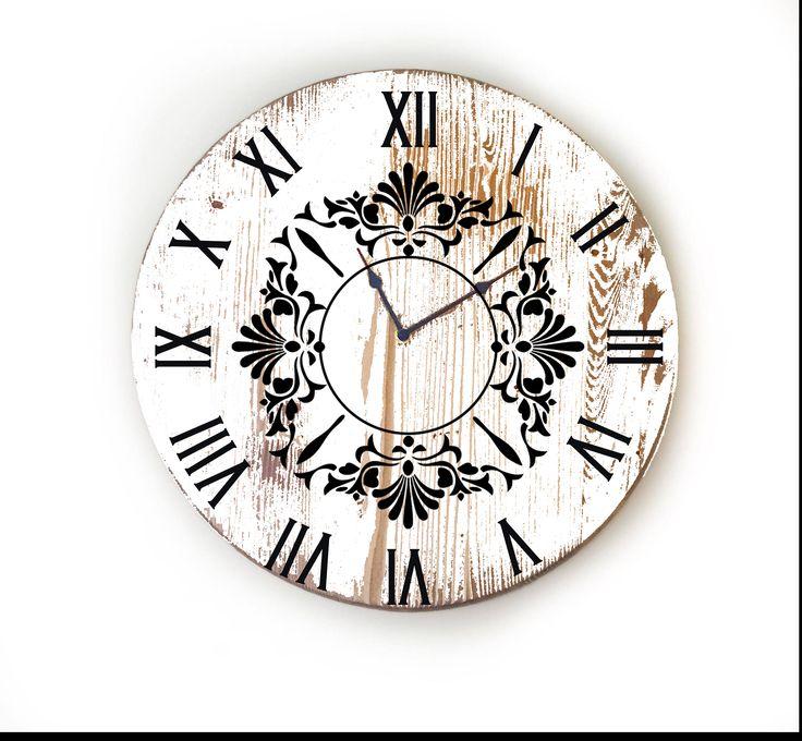 Farmhouse Wall Clock, Large Wall Clock, Over Sized Clock, Unique Wall Clock, Rustic Wall Clock, Personalized Wall Clock by LolasDesignLoft on Etsy