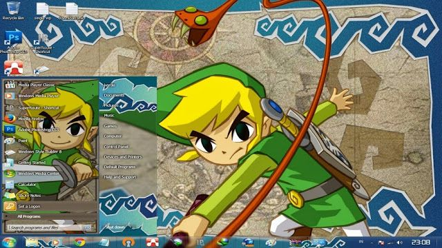 This page  about Free Download themes windows // Tema //7 //seven// 肌//テーマ//画題//窓//ウィンドウ//七つ//skin// The Legend Of Zelda //