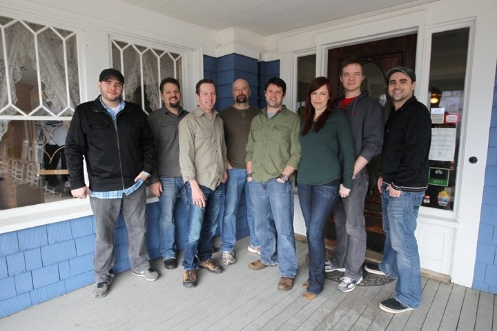 From left to right: Steve Gonsalves, Britt Griffith, K.J. McCormick, Jason Hawes, Grant Wilson, Amy Bruni, Adam Berry and Dave Tango.....The Atlantic Paranormal Society (TAPS)