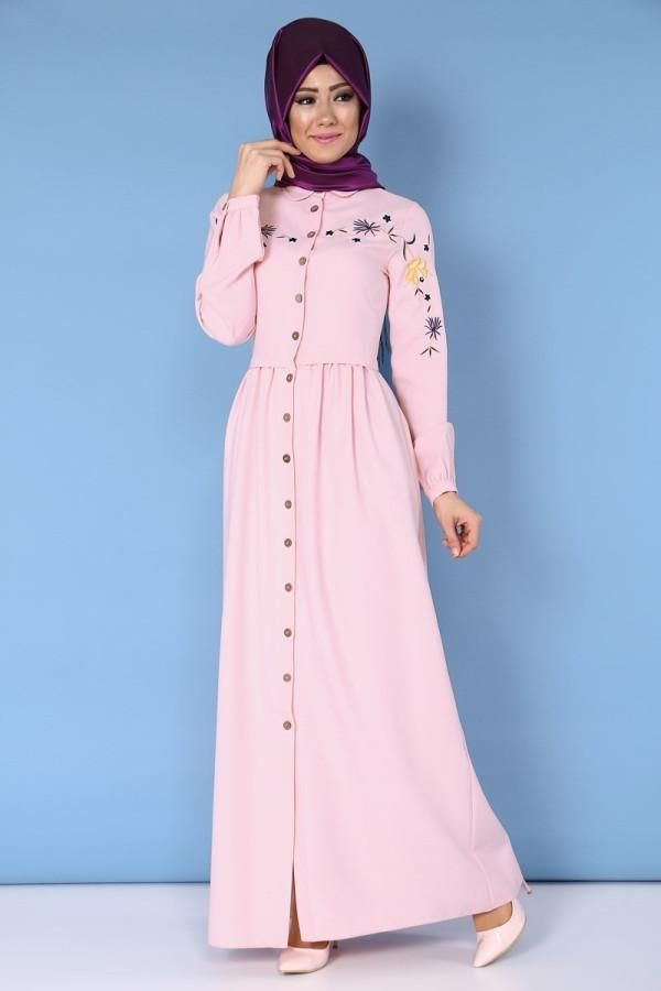 What a beautiful dress    Enjoy a discount up to 10%  tall: 145 - narrow size so we advice to take bigger size - you can wash om 30 C degree  Moda Hurrem   Code : 6392 pink   #muslimahwear #muslimah #muslim #hijabers #hijabfashion #Hijablooms #dresses