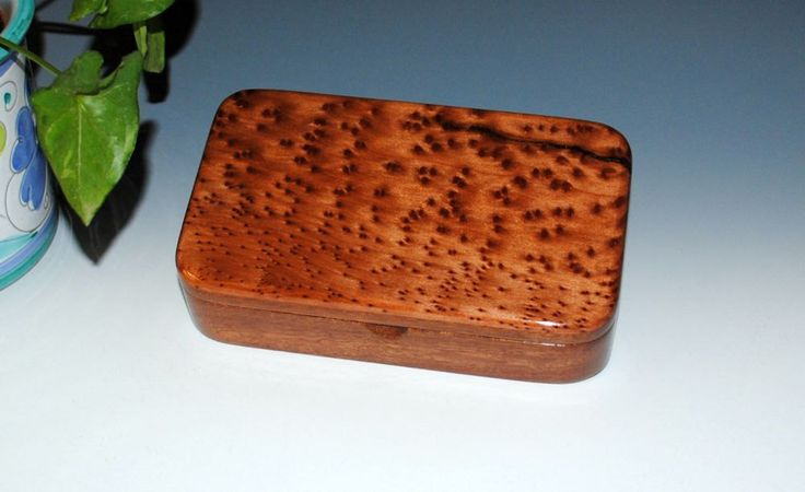 "New to BurlWoodBox on Etsy: Handmade Wood ""Oyster"" Box - Redwood Burl on Mahogany - Stash Box Desk Box Gift Box Jewelry Box (44.00 USD)"