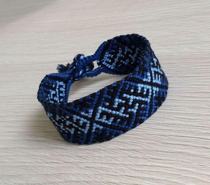 Bransoletka bóg Swarożyc blue - ButikHejHej - Bransoletki plecione