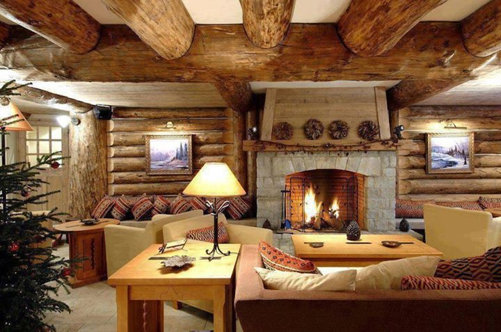 Sala De Jantar Rustica ~ Cómo decorar por dentro una cabaña? Imágenes de interiores de