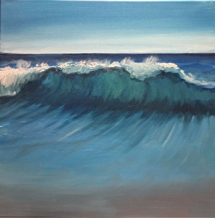 Wave,   2015,  oil painting,   www.ojam.eu #painting #wave #ocean