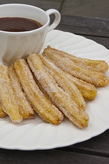 Churros and Chocolate Recipe  |Repin, like and Follow for more