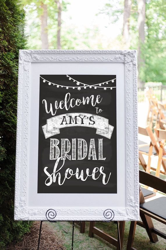 Bridal Shower Welcome Sign Bridal Shower Sign by AycockDesigns