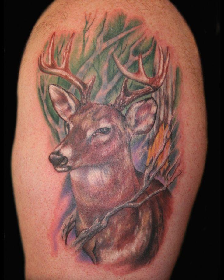 Tattoo Woman Deer: 38 Best Girl Deer Tattoos Images On Pinterest