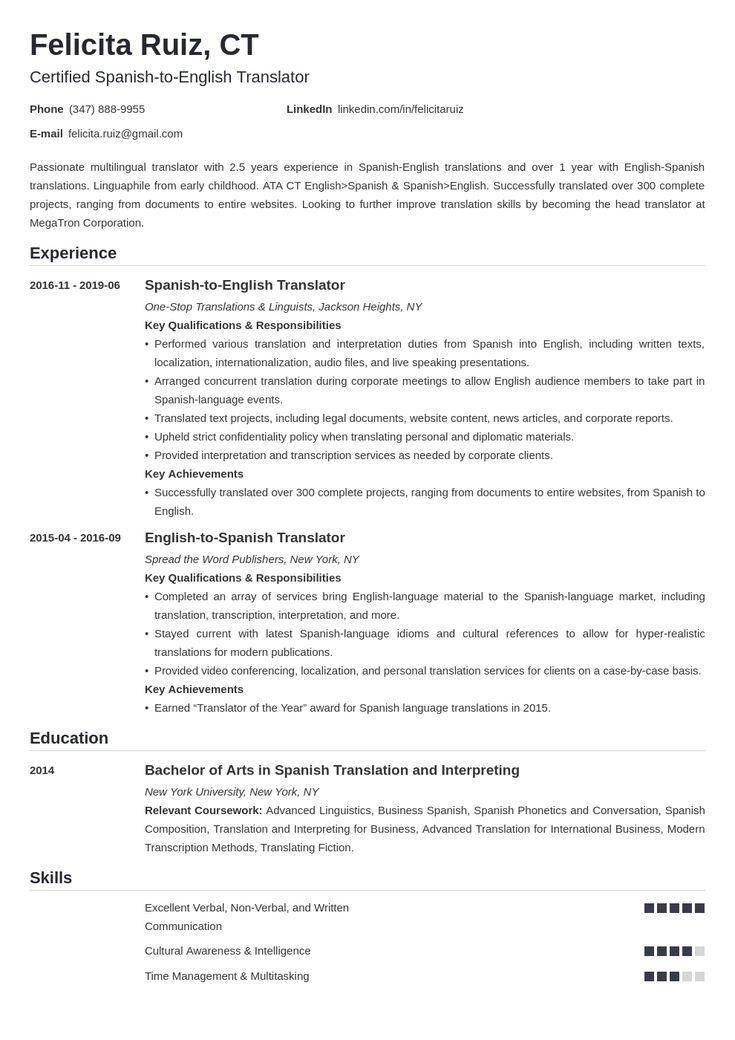 translator resume example template nanica  resume