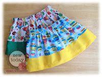 Sew Today, Clean Tomorrow: Tutorials easiest basic skirt