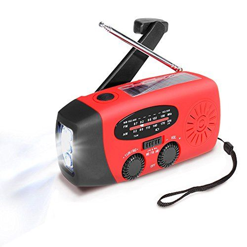 Emergency Radio MECO Solar Hand Crank Dynoma Weather Radio AM/FM/WB NOAA Radio with LED Flashlight, Phone Charger and 1000mAh Power Bank for Camping Hiking Outdoor Survival, with Cable & USB Jacks. For product info go to:  https://all4hiking.com/products/emergency-radio-meco-solar-hand-crank-dynoma-weather-radio-amfmwb-noaa-radio-with-led-flashlight-phone-charger-and-1000mah-power-bank-for-camping-hiking-outdoor-survival-with-cable-usb-jacks/