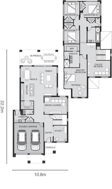 Adenbrook Homes Standard floorplan for The Perin