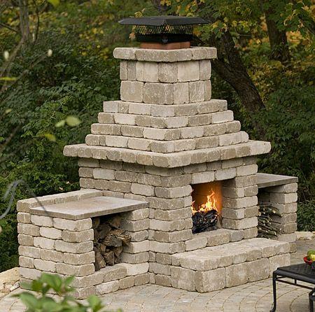 Cinder Block Outdoor Fireplace Plans – Backyard Fireplace Plans