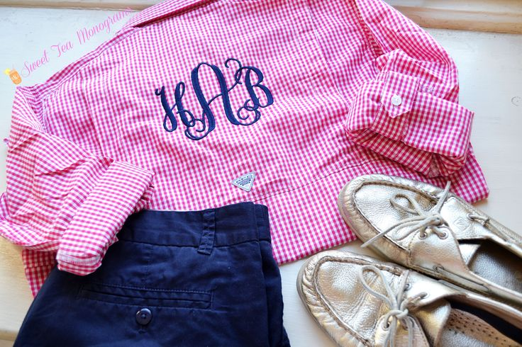Sweet Tea Monograms gingham PFG isn't just for the boat or beach, it can be great for everyday too!