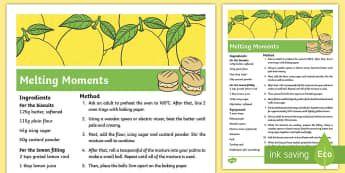 Melting Moments Recipe - biscuits, recipe, lemon, cooling, oven, baking, melting ,moments, Australian,Australia