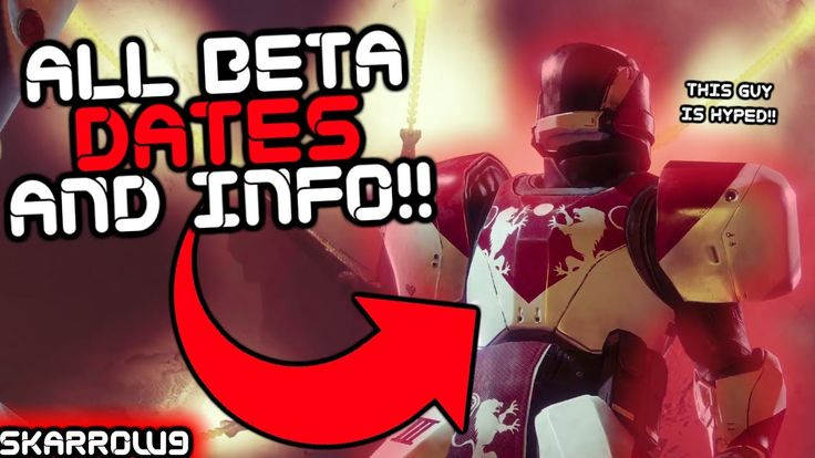 Skarrow9: Destiny 2 Beta Dates and All Known Activities (Oh and PC Release Date)!!