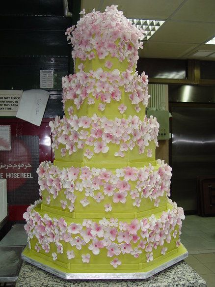 Stunning! Wedding Cake  ~ sugar dogwood flowers wedding cake ~ all edible