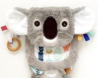 Koala Baby Lovey couverture bio anneau dentition jouet ami