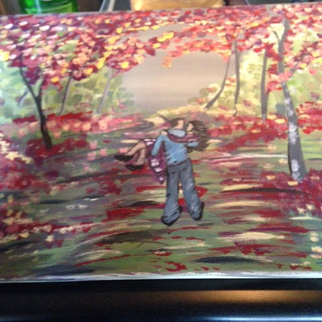 Couples Walking in the Park Painting. A new Hobby For Me! Inspired by #theartsherpa
