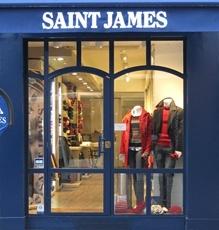 BOUTIQUE SAINT-JAMES PARIS  44 rue Cler, 75007 PARIS  Tél : (33)1 44 18 05 18  e-mail : bparis.cler@saint-james.fr    Métro école militaire sortie escalator    Ouvert du mardi au samedi de 10 h à 19h