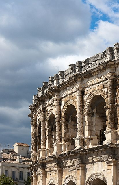 Arènes romaines de Nîmes, France.