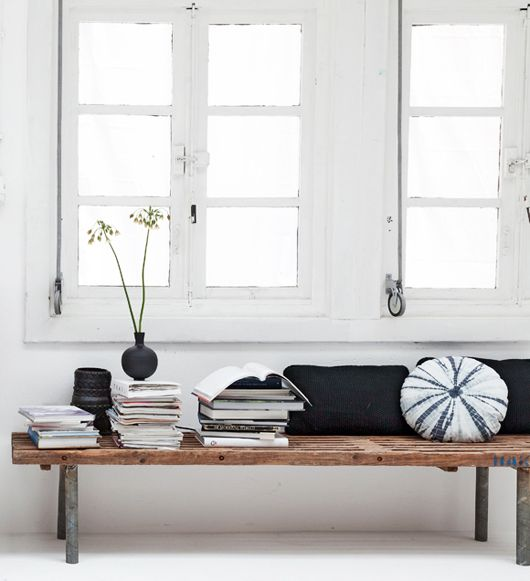 Organize Read And Share What Matters To You Bench Under Windows Rustic Bench And Window