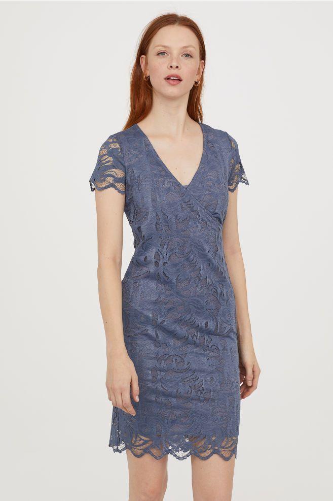 MAMA Lace Nursing Dress - Pigeon blue - Ladies  ce8cdbd4bf824