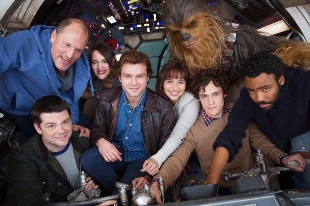 And today we've been gifted our first on-set cast photo, shot in London. It's A LOT TO TAKE IN, so let us break this down. | The New Han Solo Movie Cast Is Just Too Much