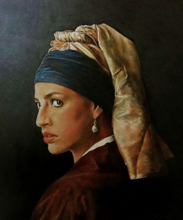 Another Girl With the Pearl Earring by Horacio Obaya