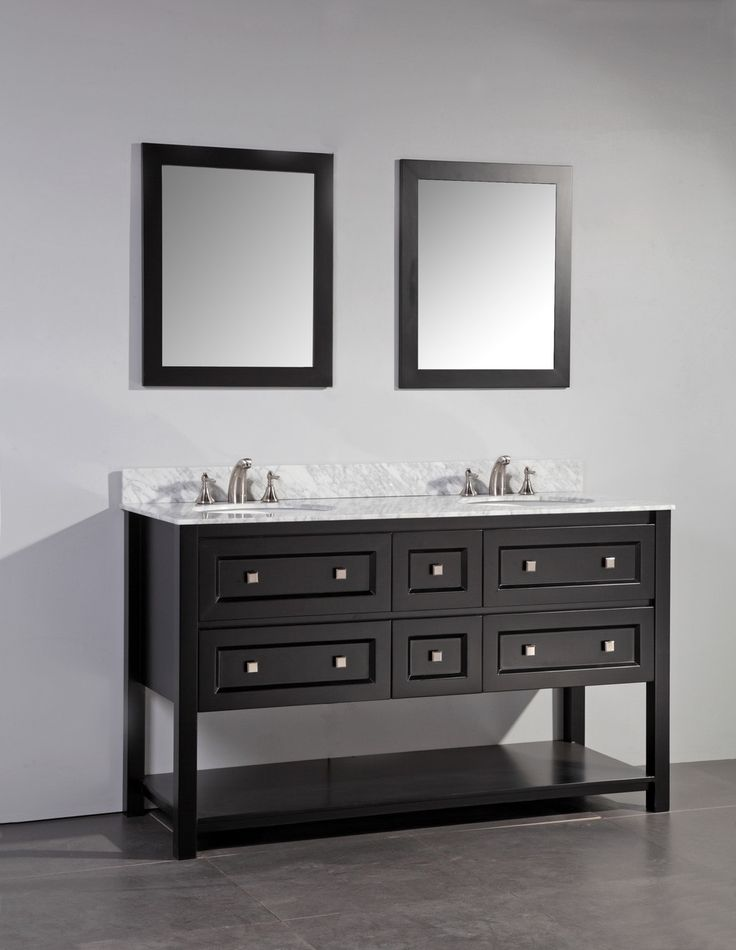 Paris 60-Inch Espresso Double-Sink Bathroom Vanity With Mirrors 117 best bathroom images on pinterest | bathroom ideas, home and