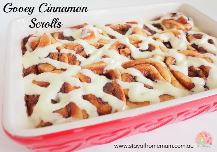 Gooey Cinnamon Scrolls | Stay at Home Mum #Gooey #Cinnamon