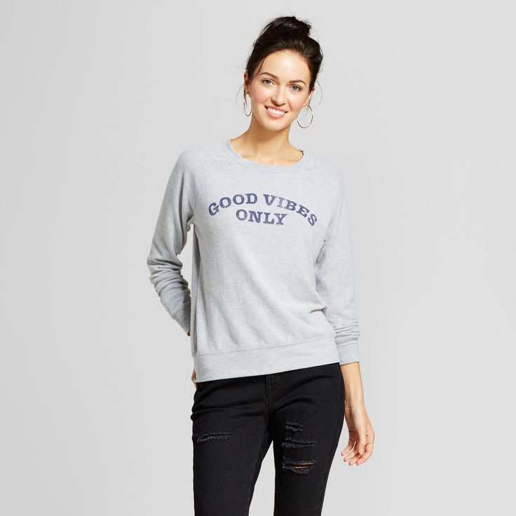 Get the feel good, do good phenomenon in motion with the Good Vibes Only Graphic Sweatshirt from Grayson Threads. A comfy crewneck sweatshirt only means you'll feel lusciously good and cozy, and you'll have the optimistic script to match. Whether you slip into a pair of comfy joggers and high-top sneakers for fashion-forward loungewear, or you find your favorite choker paired with skinny jeans and booties for a dressier ensemble, you're sure to sport an infectiously positive look....