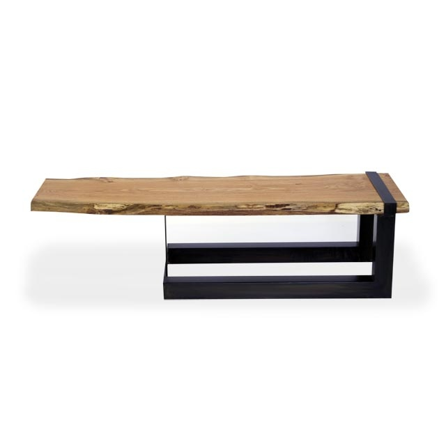 Urban tree salvage salvaged and reclaimed solid wood live edge slab coffee table stuff to Live wood coffee table