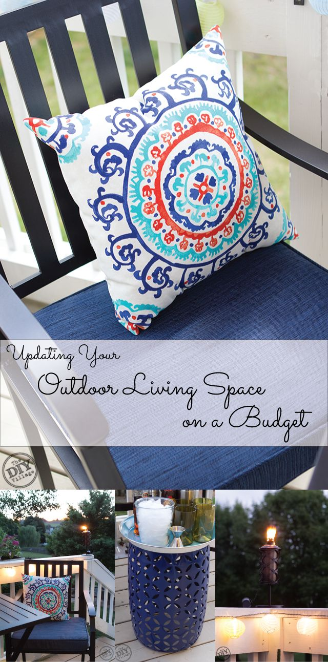 Updating your outdoor living space on a budget for Outdoor living spaces on a budget