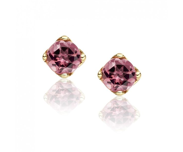 The gorgeous pink hues of pink tourmaline sparkle with this pair of stud earrings from our Lief Collection of gemstone jewellery.