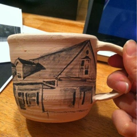 Drawing on pots