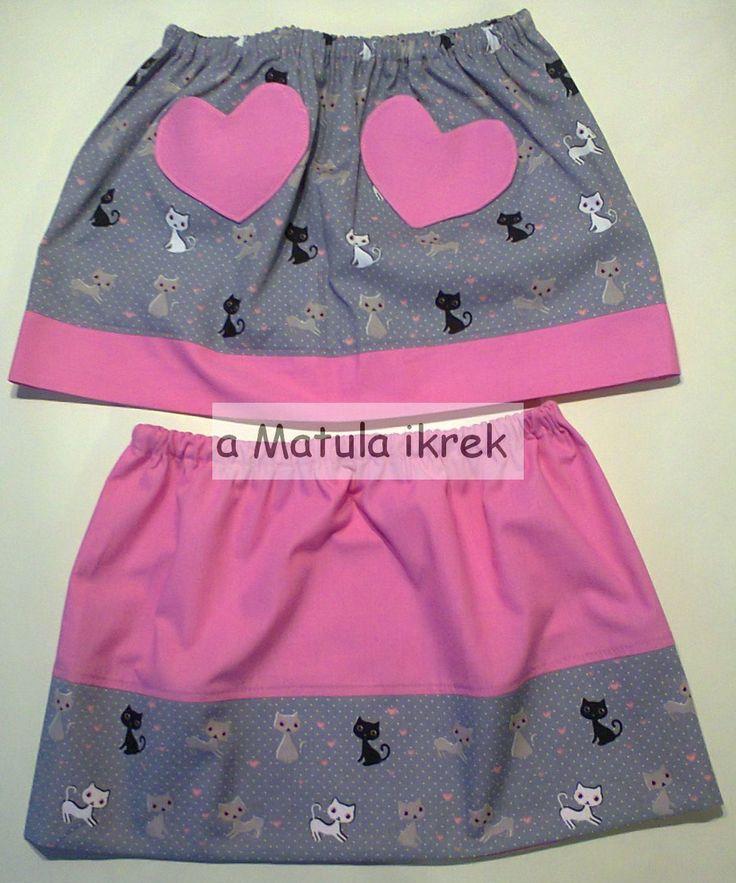 cicás szoknyák ikreknek/ similar but not the same skirts for twin sisters