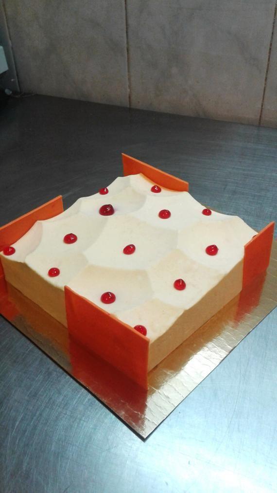 Торт апельсин-черника