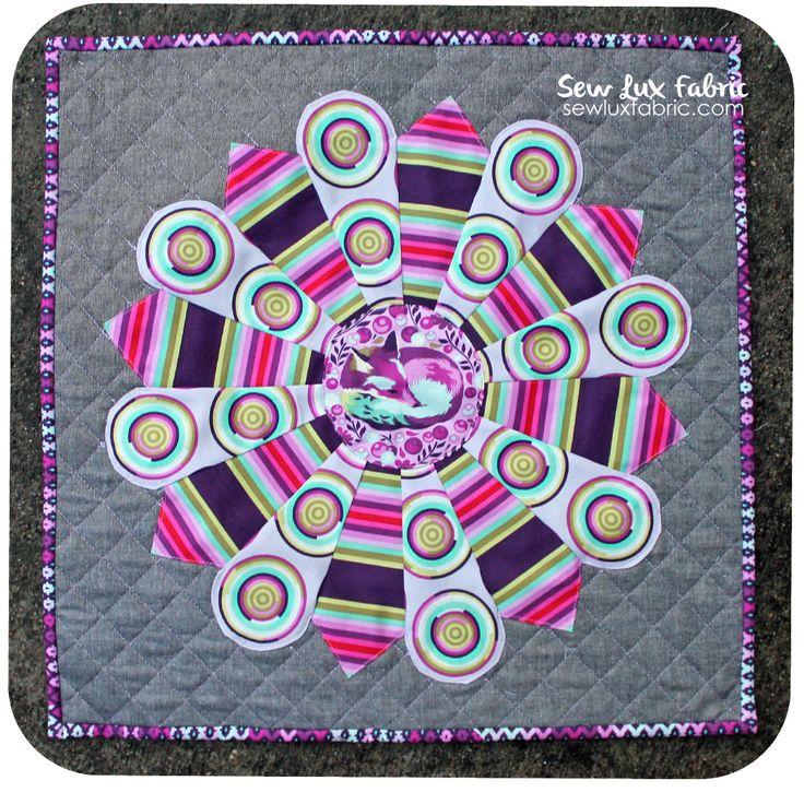 Mini Mania QAL :: Hula Hoop using Tula Pink