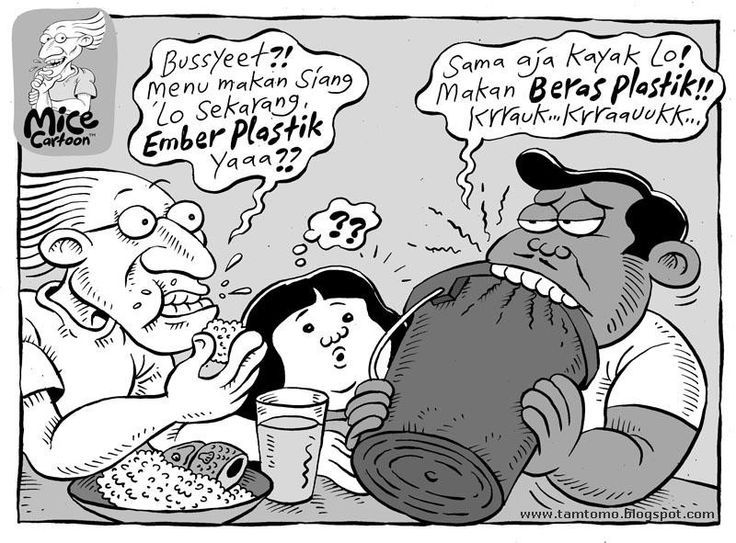 Mice Cartoon, Kompas - 24 Mei 2015: Beras Plastik
