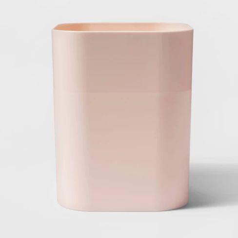 plastic bathroom wastebasket pink - room essentials™ : target