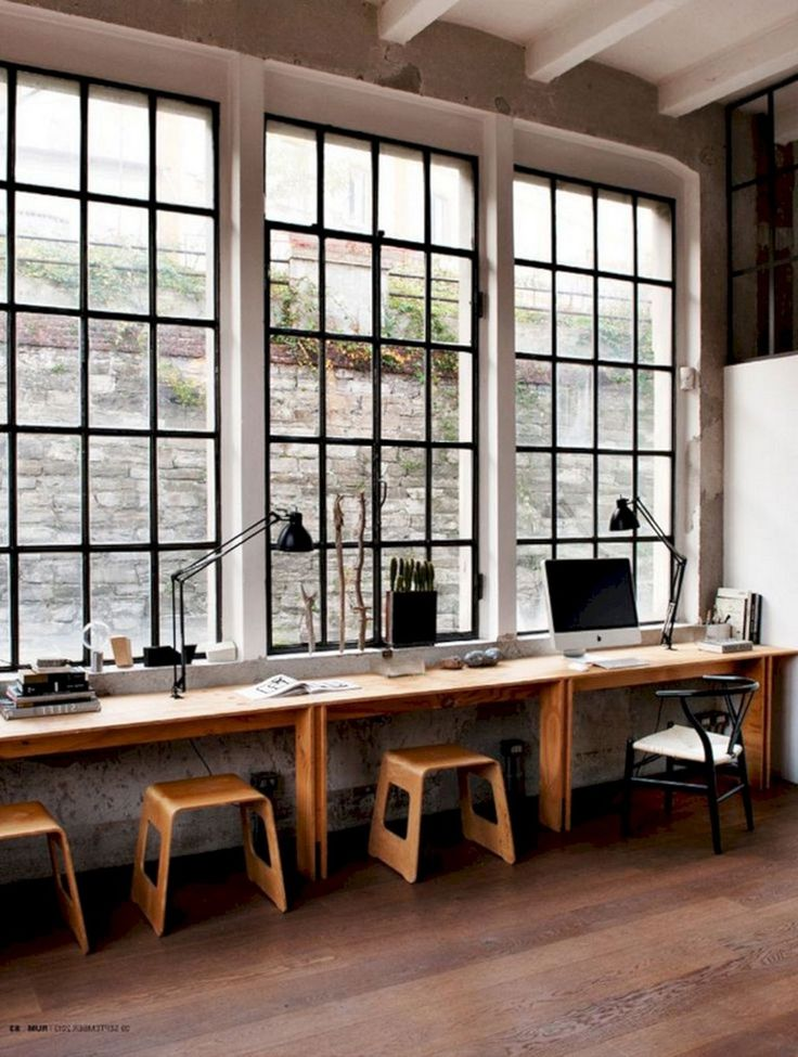 35 Luxury And Amazing Industrial Home Office Designs