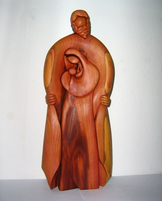 337.00 € www.soly-toys.com Family - God, Holy Mary and Jesus, wooden statue