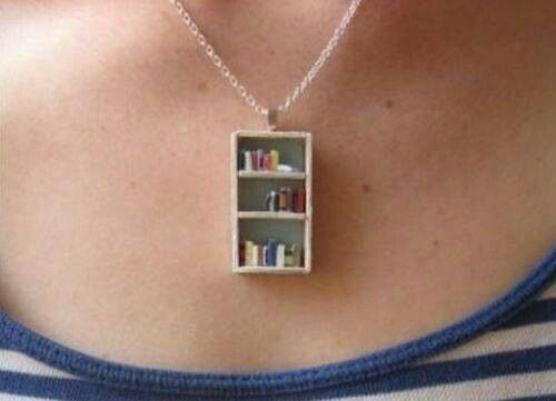 Bookshelf #necklace #jewelry #gift